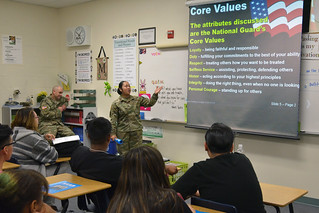 National Guard visits Rancho HS in celebration for Week of Respect | by Trustee Kevin L. Child - District D