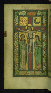 Helmarshausen Psalter, Christ on the Cross, with Mary and St. John, Walters Manuscript W.10, fol. 41v | by Walters Art Museum Illuminated Manuscripts
