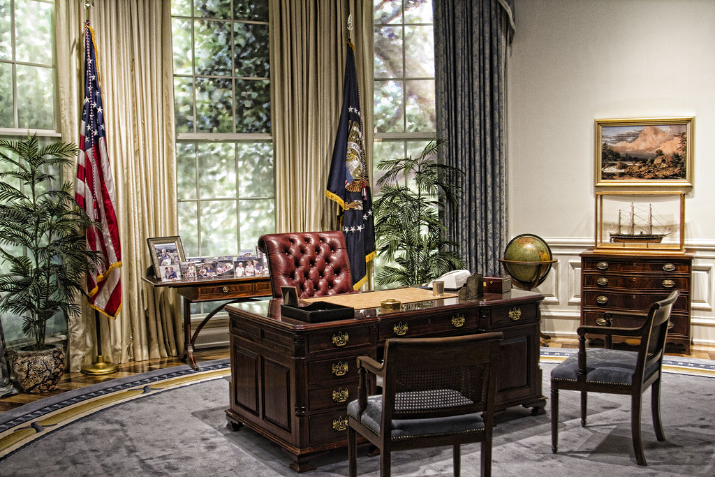 george bush oval office. George Bush Oval Office - Replica | By Trudy B