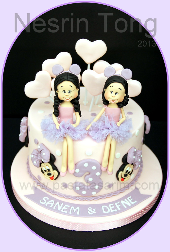 twins birthday cake minnie mouse CAKE BY NESRN TONG Flickr