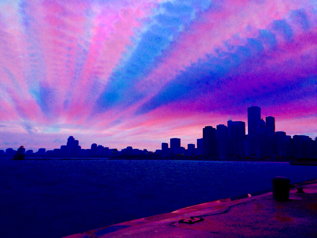 Sunset Timestack - hundreds of frames shot and blended on …   Flickr