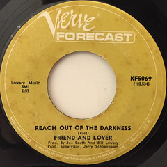 FRIEND AND LOVER:REACH OUT OF THE DARKNESS(LABEL SIDE-A)