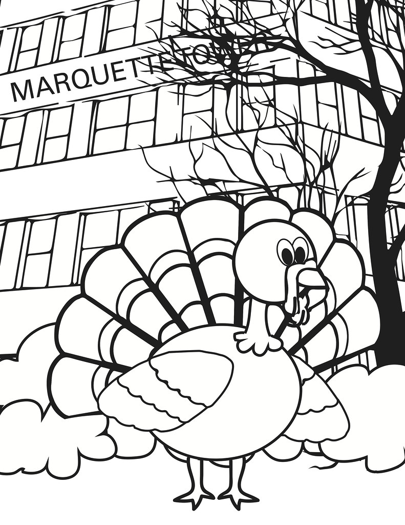Marquette Turkey-Coloring Book Page | A craft for the kids t… | Flickr