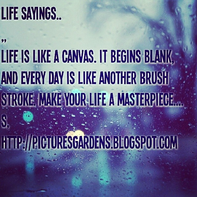 Life Is Like A Canvas It Begins Blank And Every Day Is Li Flickr