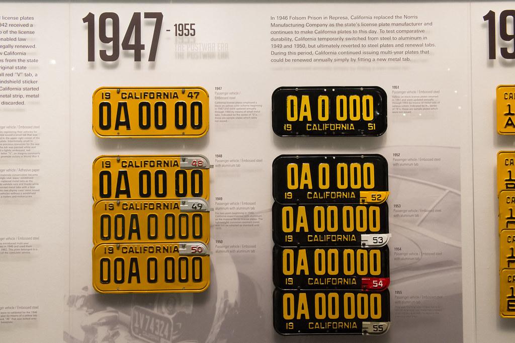 California License Plates 1947-1955 | In 1946 Folsom Prison … | Flickr