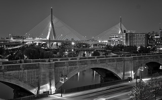 POTD 2014-05-27 - Zakim Bridge from Museum of Science garage roof - HDR | by BillDamon