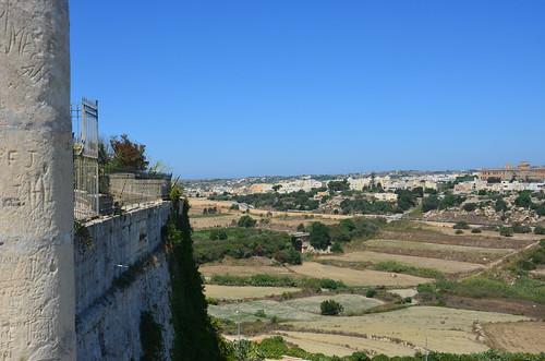 Ausblick in Richtung Mosta von der Zitadelle