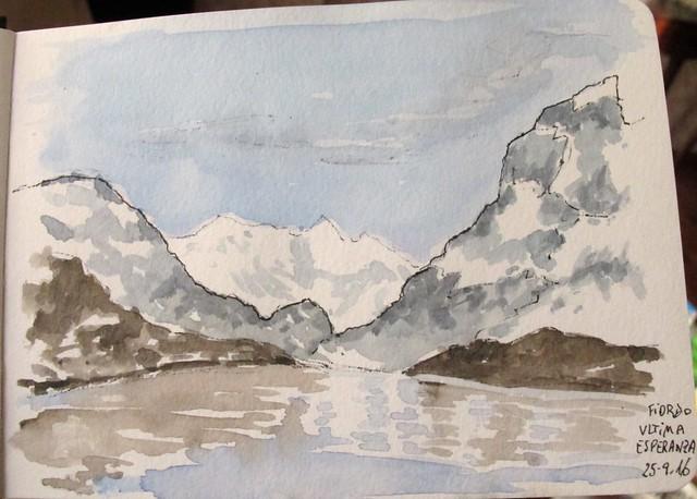 Fiordo Última Esperanza. Patagonia. Chile
