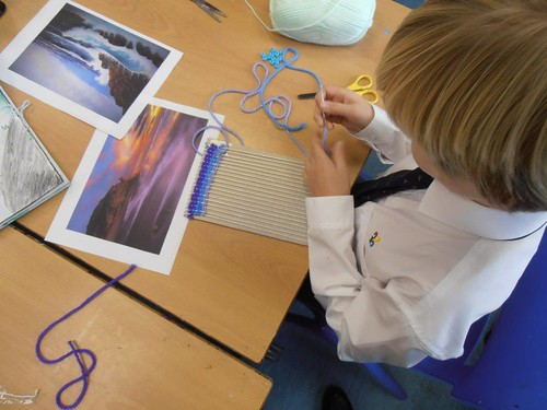 Year 7 Art - Weaving seascapes