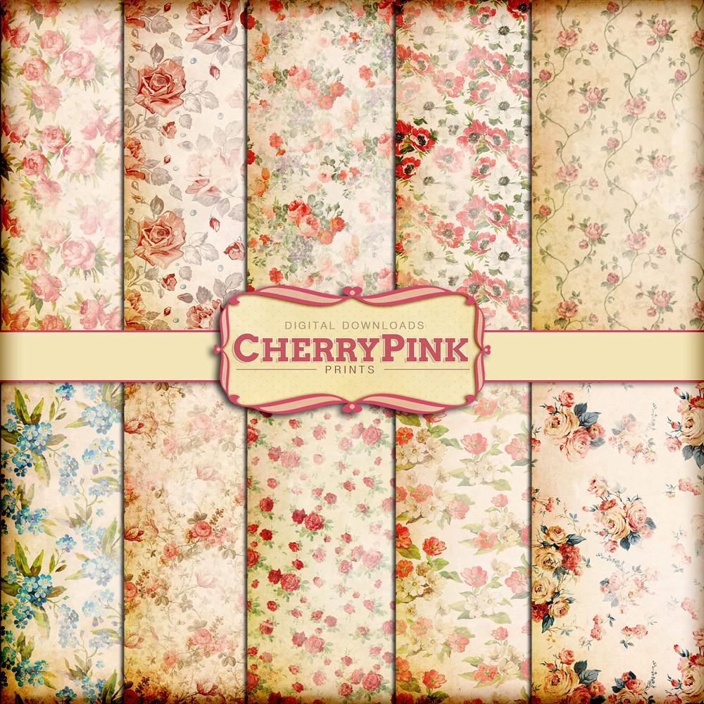 Floral Scrapbook Paper Link Etsylisting15878584 Flickr