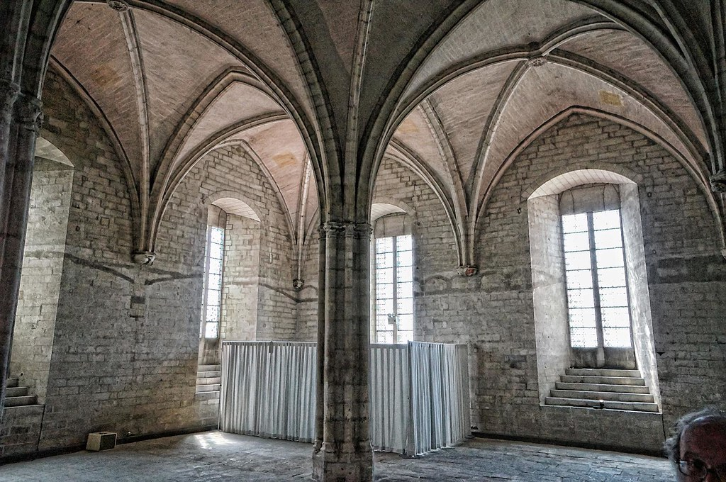 Gothic Vaulted Ceilings In The Palace Of Popes Avignon France 3