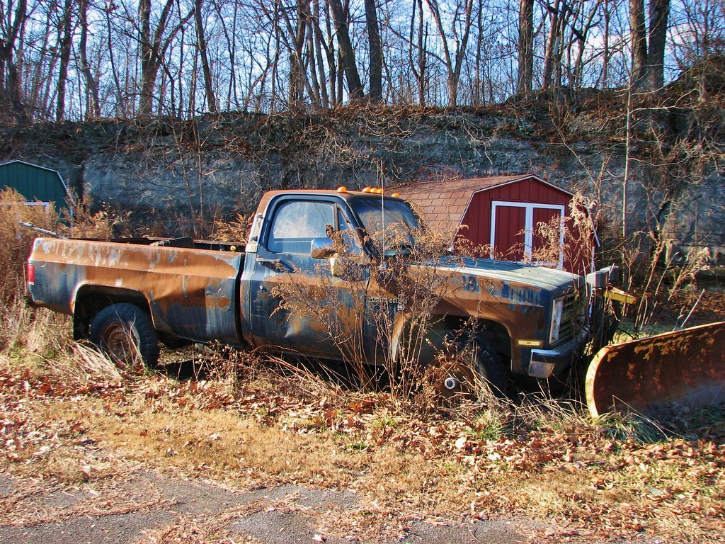AN OLD CHEVY PICKUP IN DEC 2013   Seen along NY 32 in the to…   Flickr