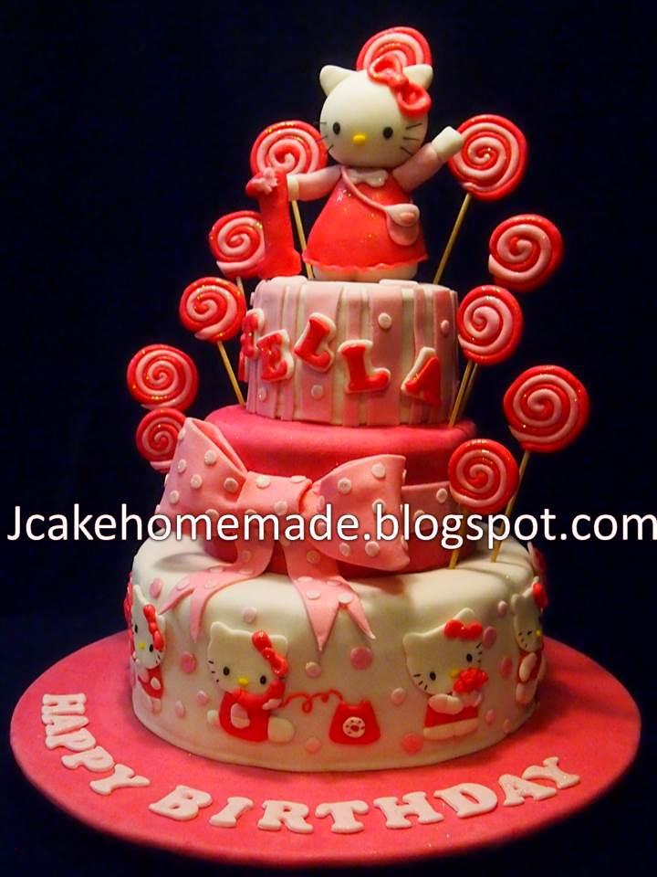 Hello Kitty Birthday Cake Happy 1st Birthday Stella Thank Flickr