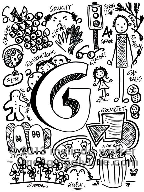 The Gorgeously Graceful And Genuinely Groovy Letter G