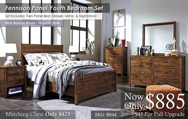 Fennison Panel Youth Bedroom Set B544-21-26-45-87-84-86-91-Q731