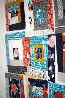 Tsuru quilt blocks in progress | by frommartawithlove