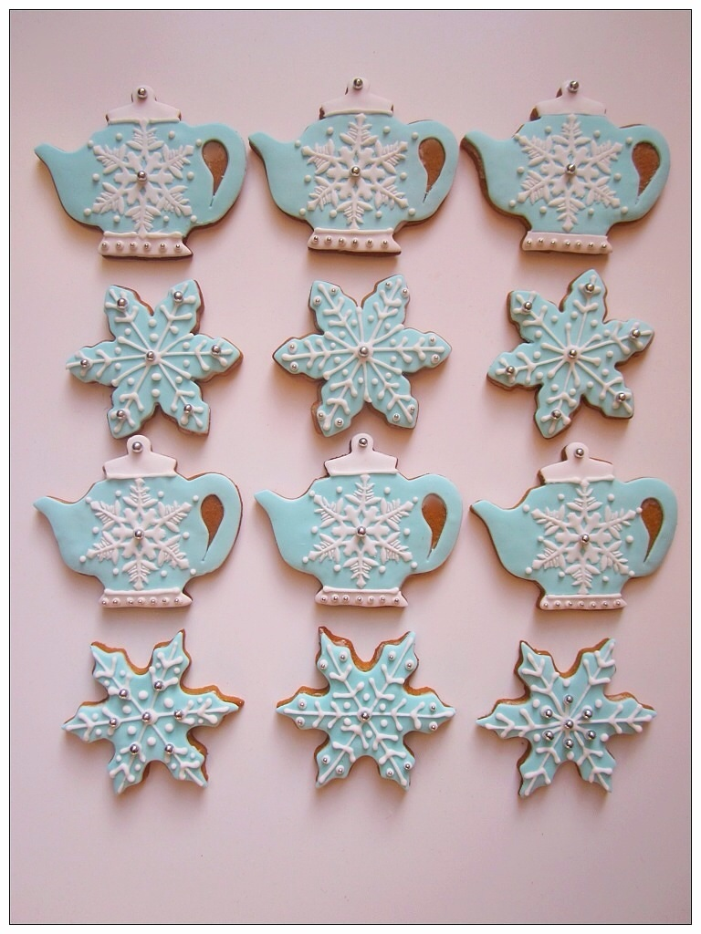 winter wonderland bridal shower cookies by carries creative cakes