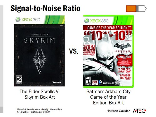 signal to noise ratio the box art for skyrim depicted on. Black Bedroom Furniture Sets. Home Design Ideas
