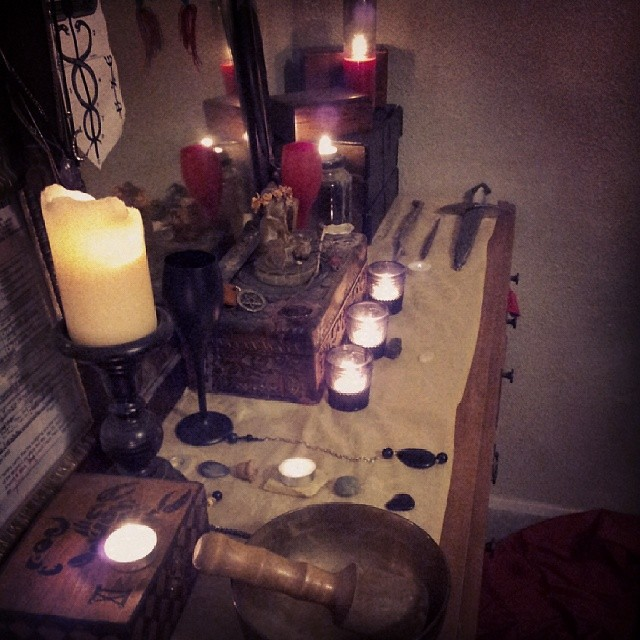 Candles Make The Bedroom Warmer AsteriOccult Altar Athame AsteriHerbs Occult