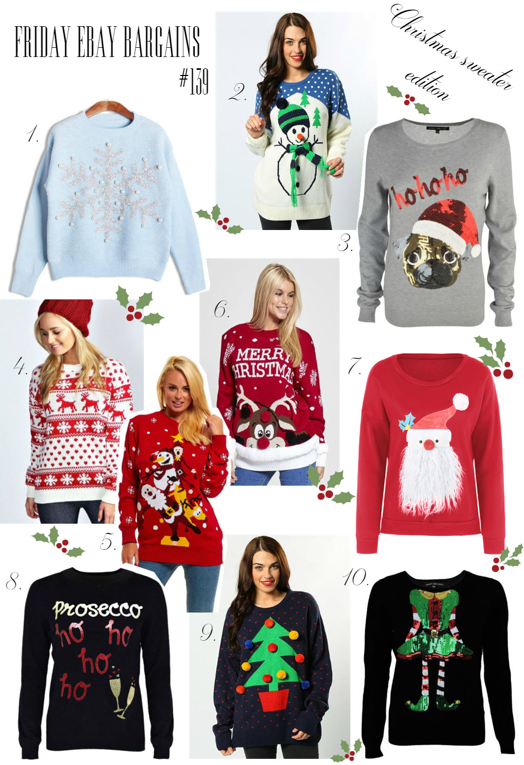 Christmas Ebay sweaters