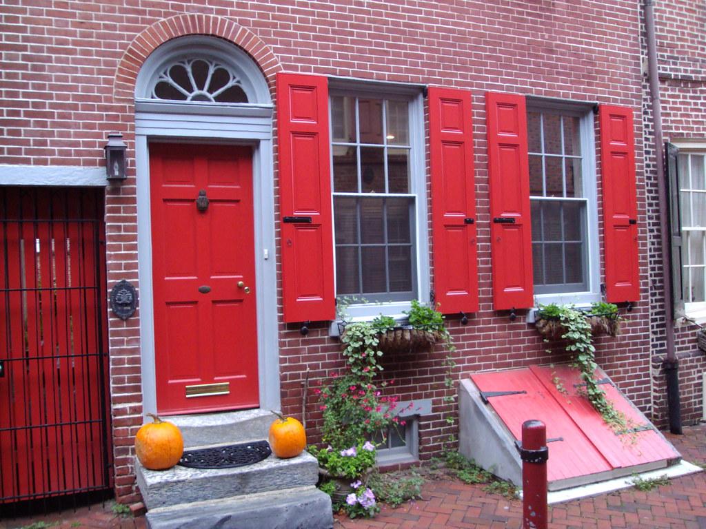 by denisbin Philadelphia Orange Doors and Shutters. Elfrethu0027s Alley. | by denisbin & Philadelphia Orange Doors and Shutters. Elfrethu0027s Alley. | Flickr pezcame.com