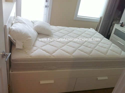 Ikea brimnes bed assembly service in rockville md ikea for D furniture galleries rockville md