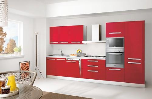 Cucine napoli ariston cucina da laccata completa for Cucine rosse moderne