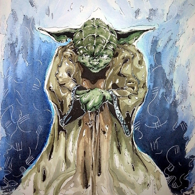 Commande Watercolor Mmmhhhh Maitre Yoda Dessiner Je D Flickr