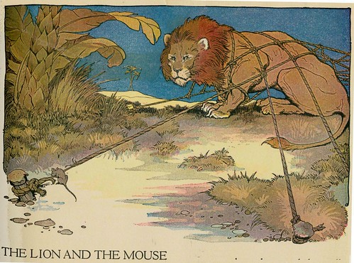 aesops fables Milo winter  1919 ill the lion and the mouse | by janwillemsen