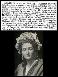 16th April 1850 - Death of Madame Tussaud | by Bradford Timeline
