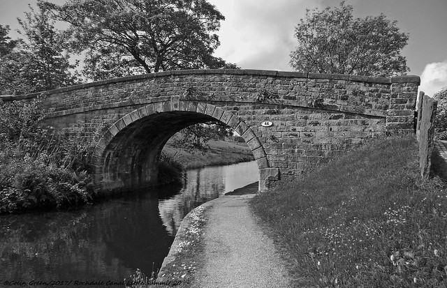 Bridge 46 on the Rochdale Canal.