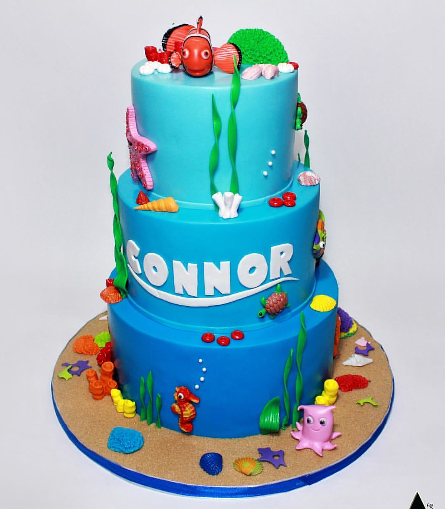 Finding Nemo Themed Baby Shower Cake Asexquisitecakes Ba Flickr