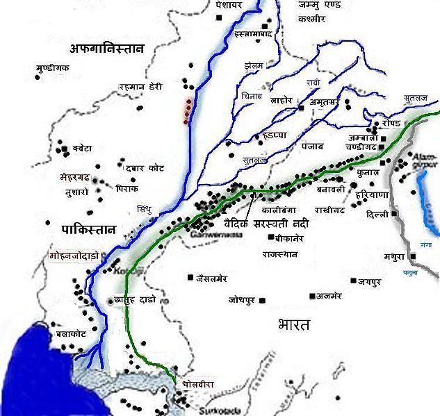 सरस्वती नदी मैप
