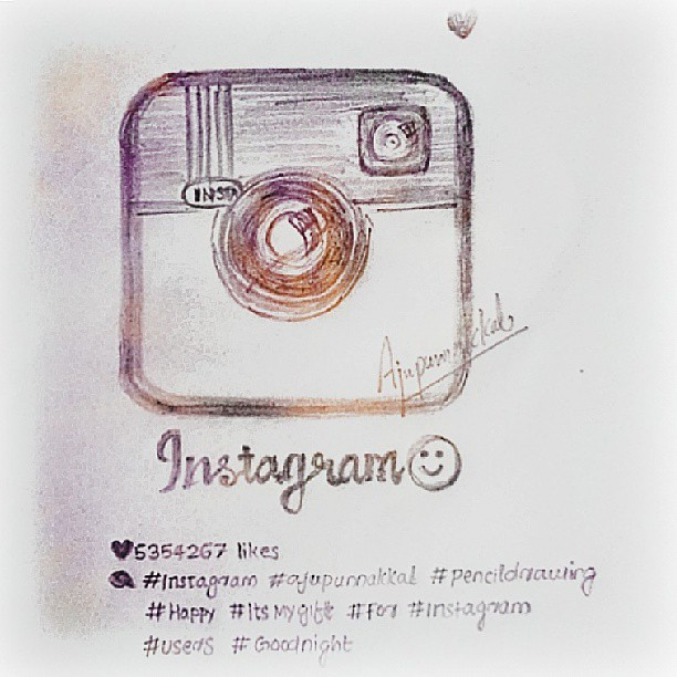 Instagram logo pencil drawing by ajupunnakkal by aju punnakkal