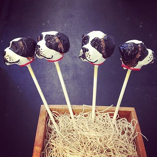St Bernard cake pops-so cute! #cakepops #sweetlaurencakes | by Sweet Lauren Cakes