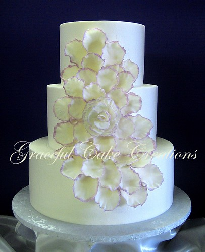 Petal Wedding Cake Two Tier