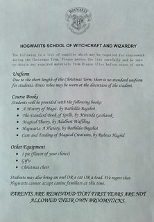 List of required school supplies for my Harry Potter Christmas party | by didofoot
