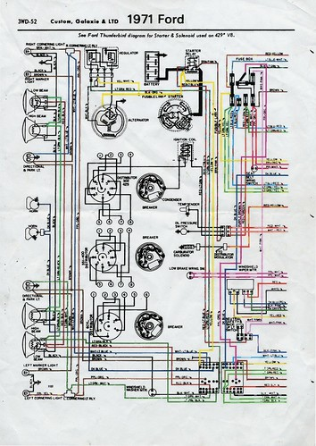 1971 Ford LTD    wiring       diagram    front   1971 Ford LTD    wiring