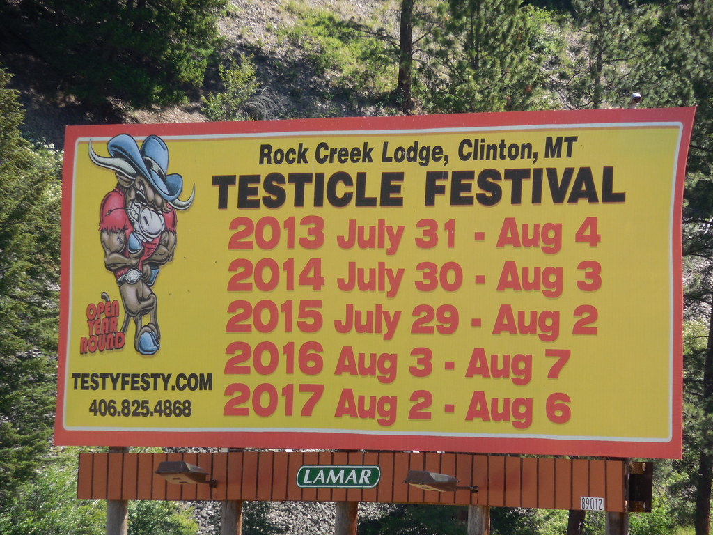 Montana missoula county clinton - Testicle Festival Billboard By Jimmywayne Testicle Festival Billboard By Jimmywayne