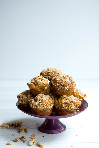 Pumpkin Pie Muffins // Brown Sugar + Walnuts | by heatherpoire