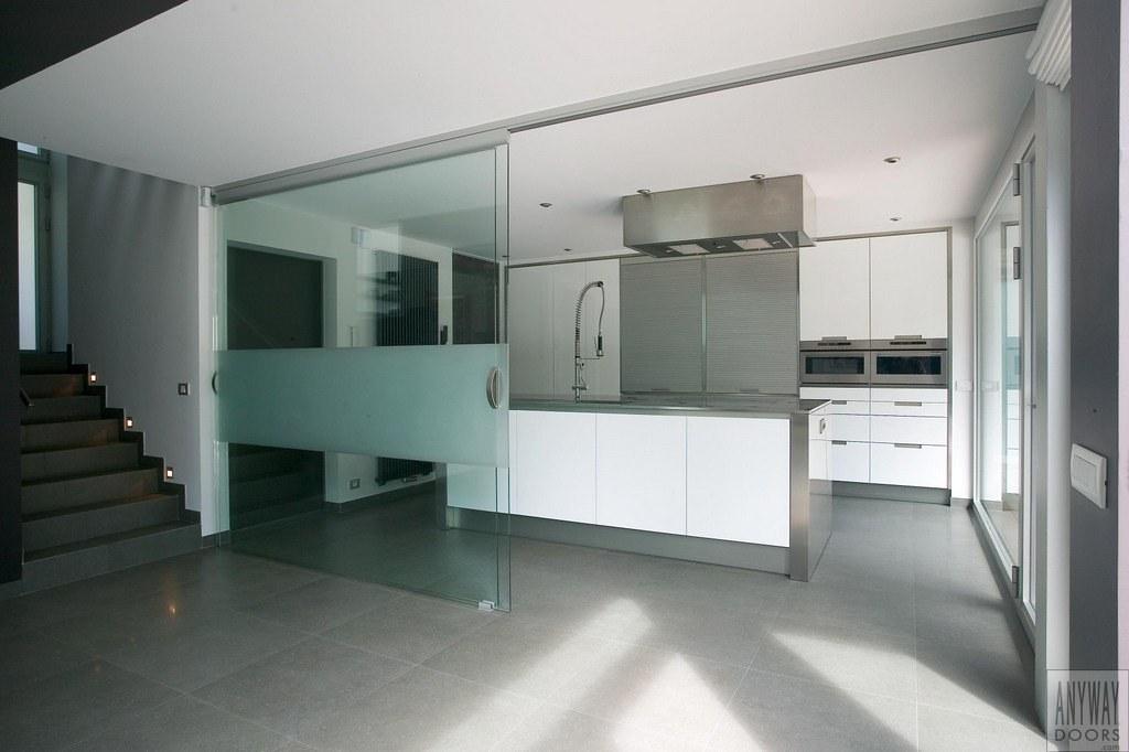 Glazen schuifdeuren tussen keuken en woonkamer | Glazen schu… | Flickr