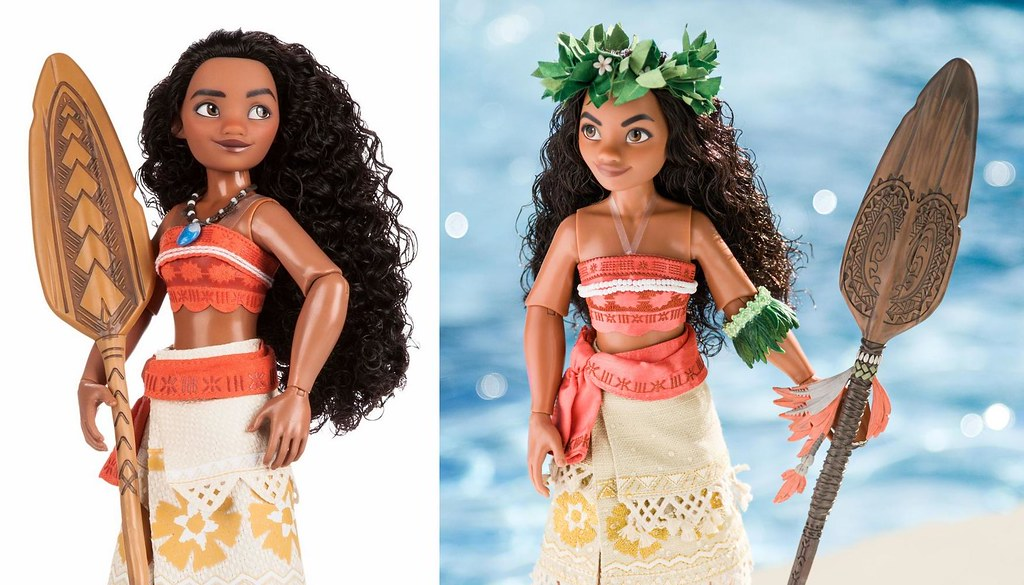 moana classic vs limited edition dolls disney store prom flickr