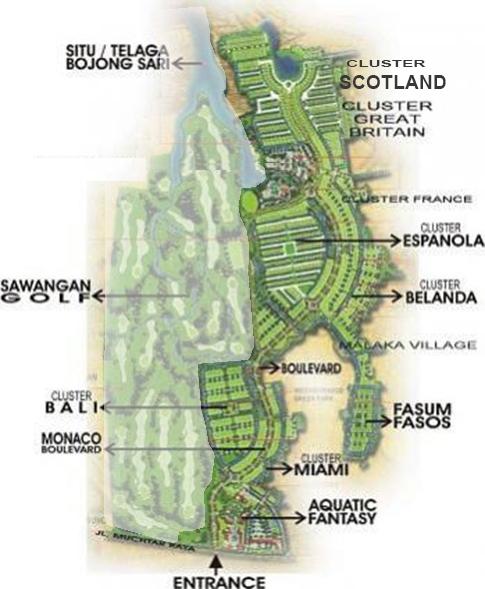 Site plan telaga Golf12222