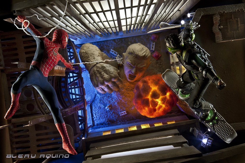 Frenemies Spider Man New Goblin Vs Sandman Diorama Flickr