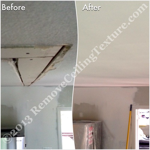 Ceiling repair after removing walls - 207A St Langley - Dining Room | by R.C.T.