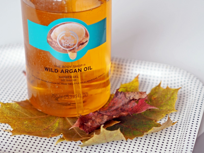 wild arcan oil the body shop showergel