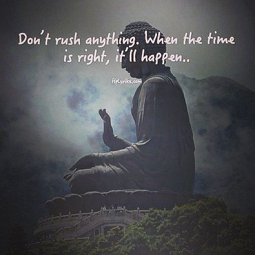 When The Right Time Comes Quotes: Don't #rush Anything. When The #time Is #right, It 'll #ha