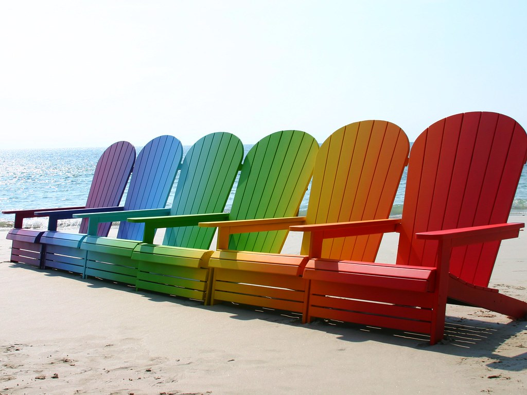 Rainbow Beach Chairs | By Emmamilan Rainbow Beach Chairs | By Emmamilan