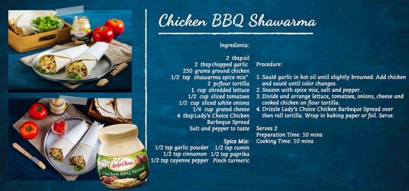 Lady's Choice Chicken BBQ Shawarma