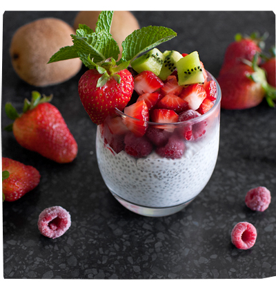 Chia Pudding and Fruit